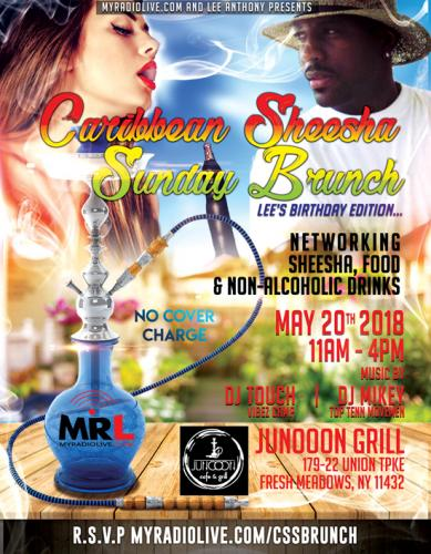 Caribbean Sheesha Sunday Brunch - May 20 2018