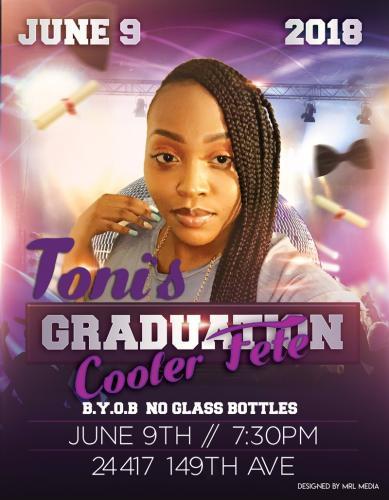 Toni's Graduation Cooler Fete